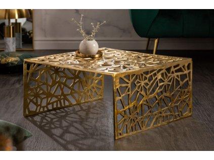 Designový konferenční stolek Cerith, 60cm zlatý 01