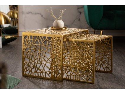 Designový konferenční stolek Cerith, 50cm zlatý 01