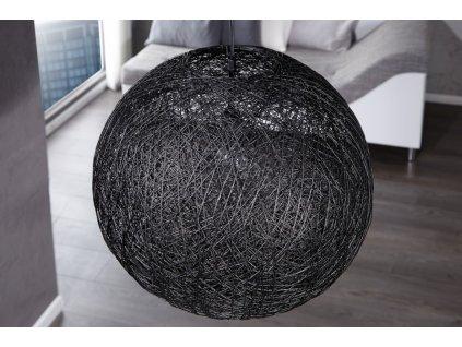 Přírodní lustr Joe S, černý 06