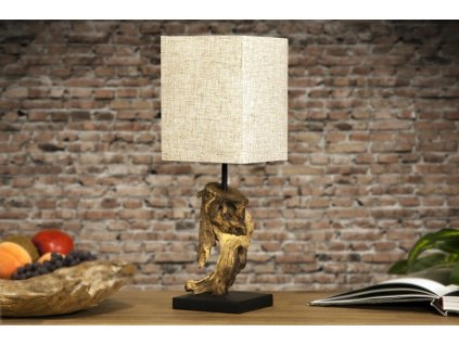 Designová stolní lampa Hannah, béžová 01