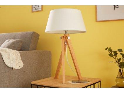 Retro stolní lampa Georgia, bílá 01