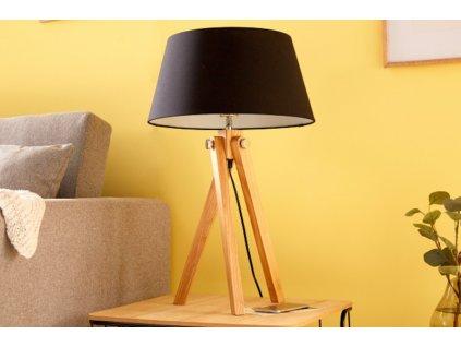 Retro stolní lampa Georgia, černá 01