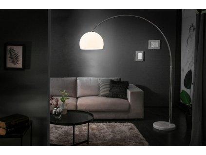 Luxusní stojací lampa Anna, bílá 01