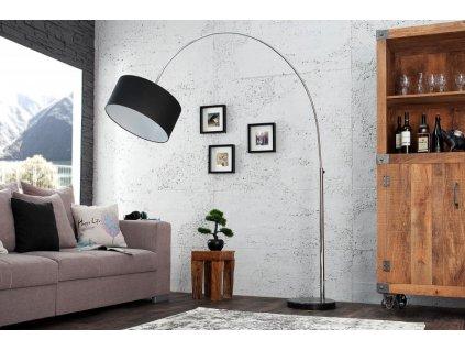 Luxusní stojací lampa Becky, černá 02