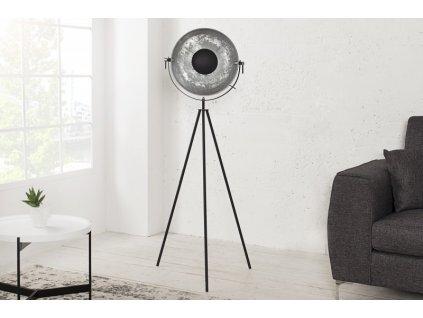 Luxusní stojací lampa Jess, stříbrná 02