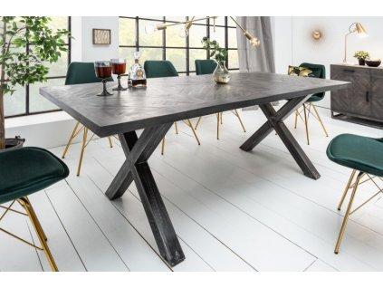 Luxusní jídelní stůl Aaron, šedý 160cm 01
