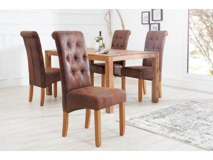 Jídelní židle Louise, hnědá (2ks) 01