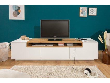 Luxusní TV stolek Will, bílý dub 01