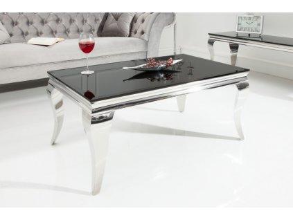 Barokní konferenční stolek Dylan, černý 01