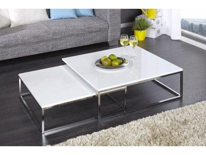 Luxusní konferenční stolek Owen, sada bílá 01