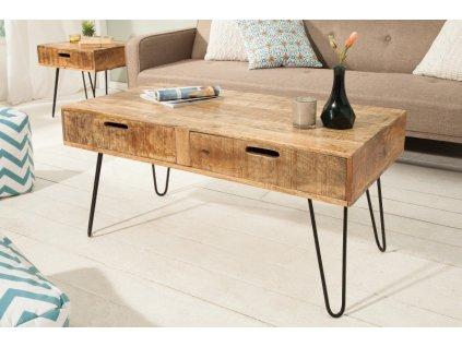 Masivní konferenční stolek Robert, přírodní 01