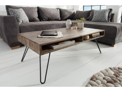 Masivní konferenční stolek Ashley, šedý 01