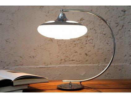 Designová stolní lampa Rosie, stříbrná 01