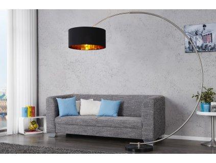 Luxusní stojací lampa Paige, zlatá 01