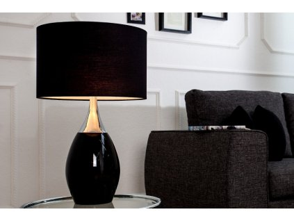 Luxusní stolní lampa Alex, černá 01