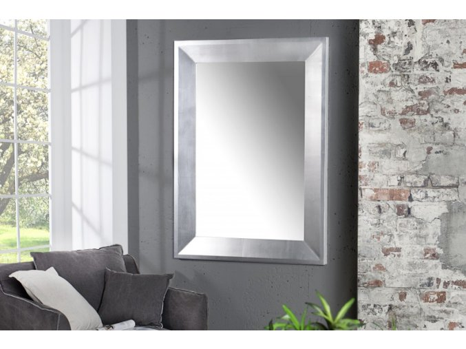 Nástěnné zrcadlo Josh, stříbrné 01