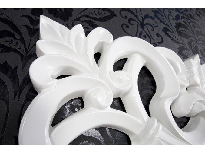 Nástěnné zrcadlo Rebecca, bílé 01