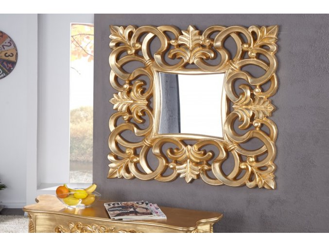Nástěnné zrcadlo Rebecca, zlaté 01