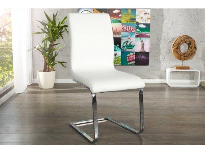 Jídelní židle Holly, bílá (4ks) 01