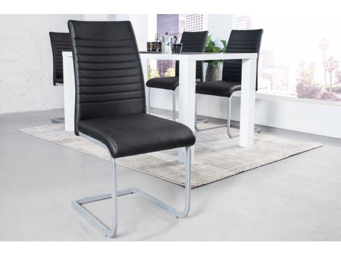 Jídelní židle Abbie, černá (4ks) 01