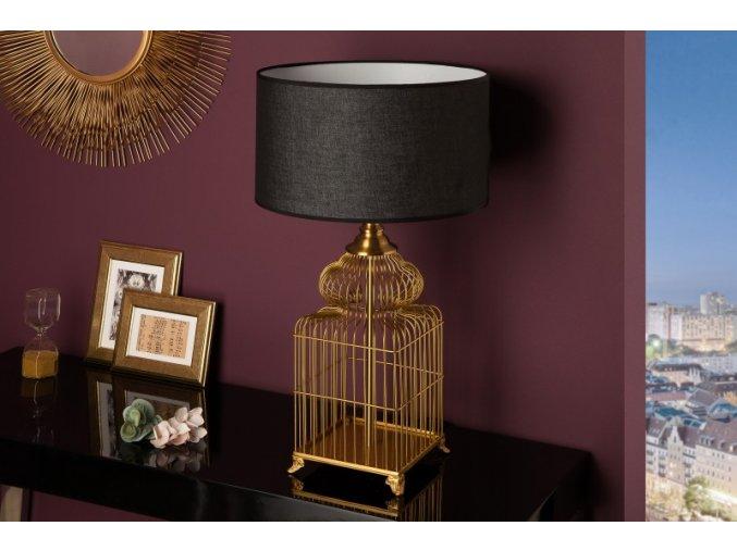 Designová stolní lampa Lucy, zlatá 01