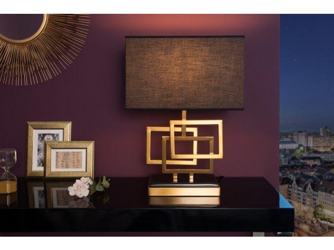 Designová stolní lampa Sarah, zlatá 01