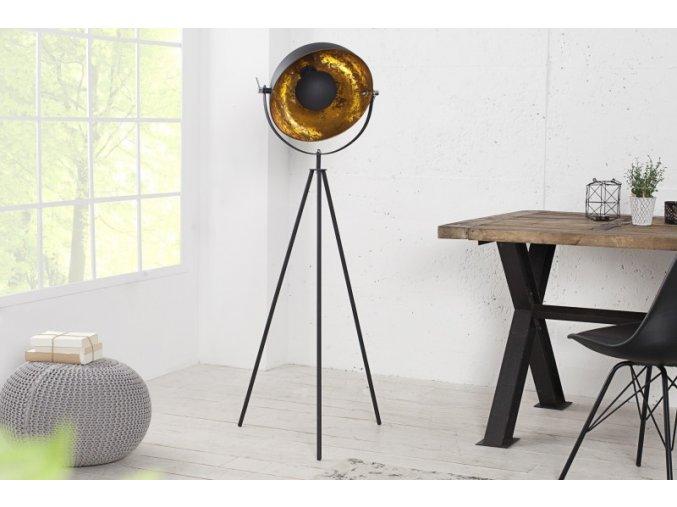 Luxusní stojací lampa Jess, zlatá 02