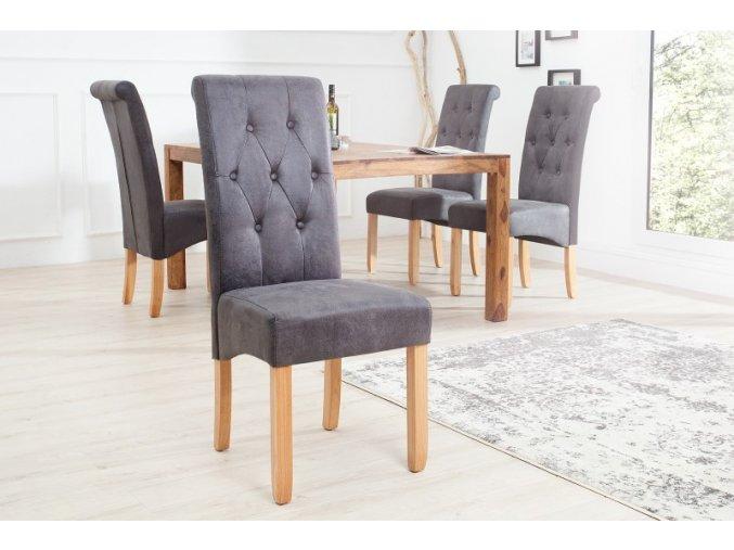Jídelní židle Louise, šedá (2ks) 01