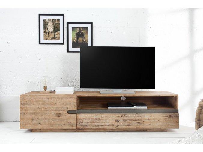 Masivní TV stolek Ross, akát 01