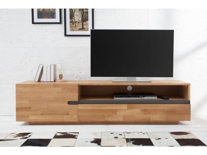 Masivní TV stolek Ross, dub 01