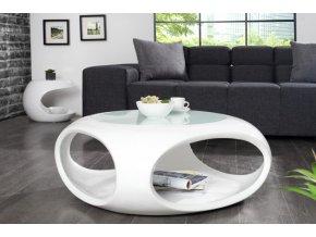 Konferenční stolek William, bílý 01