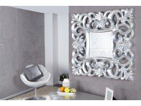 Nástěnné zrcadlo Rebecca, stříbrné 01