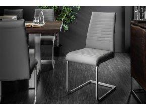 Jídelní židle Abbie, šedá (4ks) 01