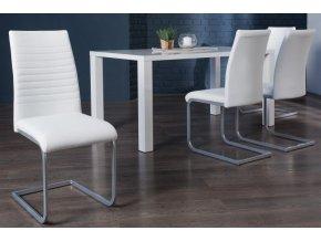 Jídelní židle Abbie, bílá (4ks)
