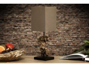 Designová stolní lampa Hannah, hnědá 01