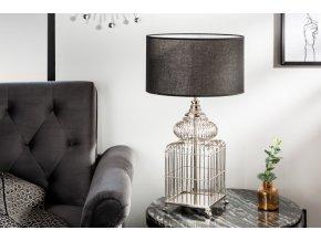 Designová stolní lampa Lucy, stříbrná 01