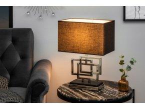Designová stolní lampa Sarah, stříbrná 01