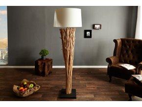 Designová stojací lampa Alice, bílá 02