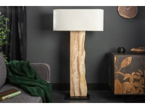Designová stojací lampa Amber, béžová 02