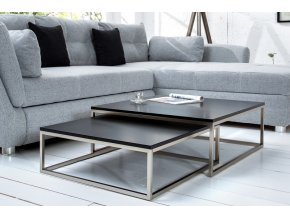 Luxusní konferenční stolek Owen, sada černá 01