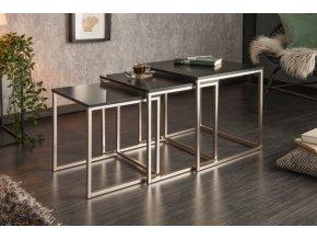 Luxusní konferenční stolek Danny, sada černý 01