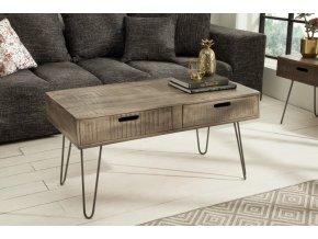Masivní konferenční stolek Robert, šedý 01