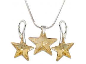 Set s kameny Swarovski STAR SET GOLDEN SHADOW