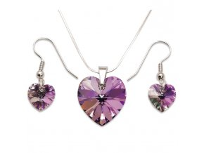 Set s kameny Swarovski HEART SET VITRAIL LIGHT