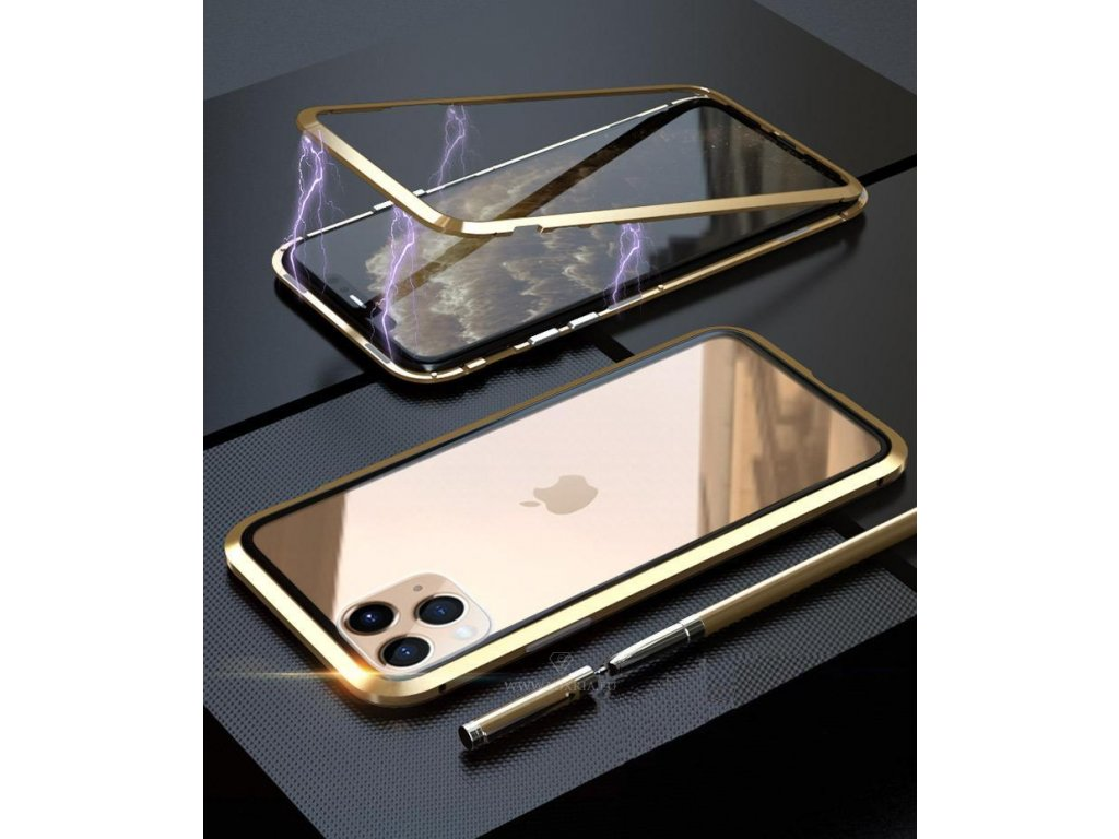 Roybens Magnetic Light Gold - Magnetický obal pre iPhone + Tvrdné ... acc62fafc18