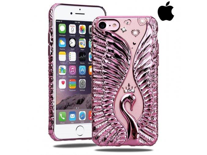 SHENGO Swan Ružová Labuď obal, kryt na iphone Luxria 1