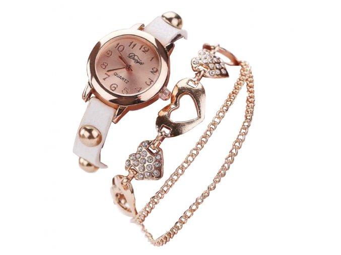 Gold Diamond Heart Hodinky Luxria 1