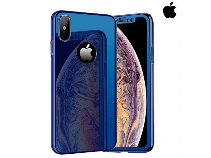 Celotelový zrkadlový modrý obal pre iPhone (1)
