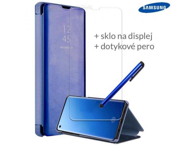Otváracie Púzdro Roybens Clear View pre Samsung Modré
