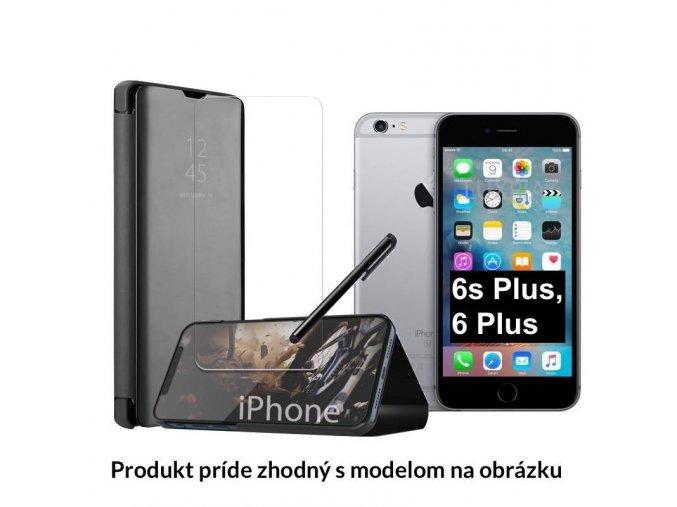 Otváracie Púzdro Roybens Clear View pre Apple iPhone cierne